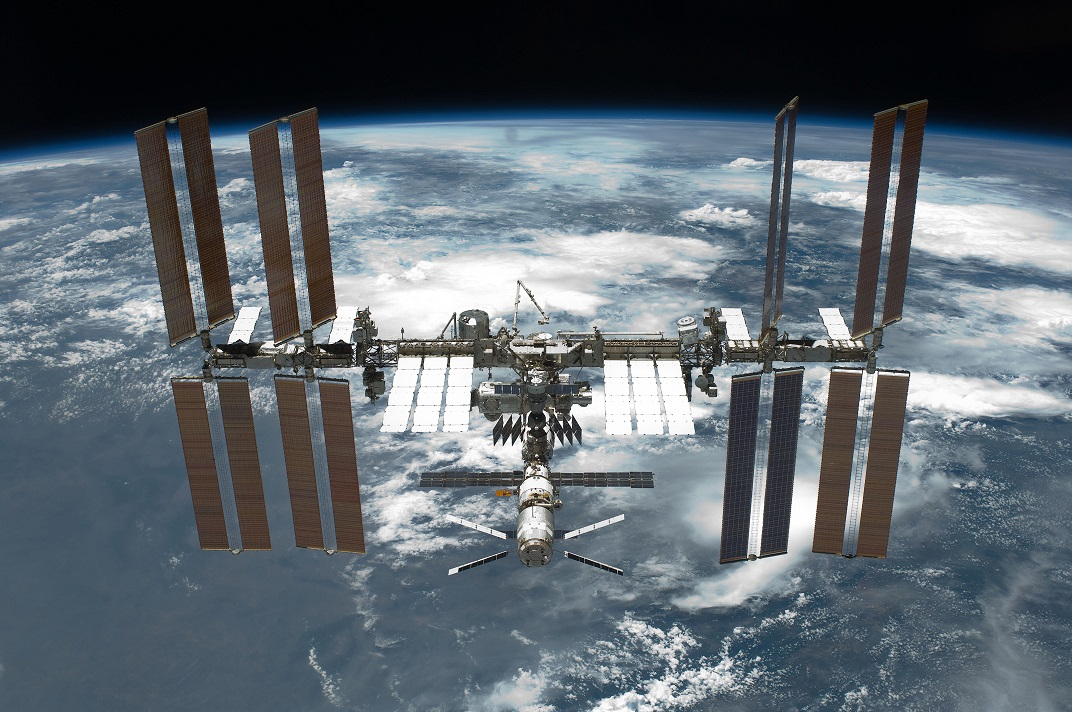 STS 134 International Space Station after undocking